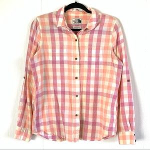 The North Face Long Sleeve Button Down Plaid Shirt
